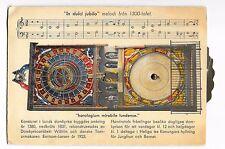 Vintage Postcard Clock Lund Cathedral Sweden Sverige 1940s with stamps