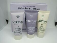 VIRTUE - Volumize & Thicken Set - For Fine Limp Hair - 3 x 15ml - 6 In 1 Styler