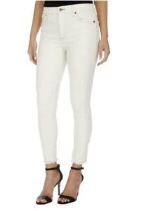 LUCKY BRAND Women's Highrise Bridgette Skinny Jeans Frayed Hem in Salt Size 6/28