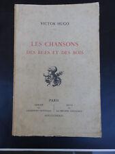 LES CHANSONS DES RUES ET DES BOIS VICTOR HUGO IMPRIMERIE NATIONALE EDT 1933