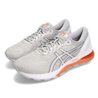 Asics Gel-Nimbus 21 Grey White Orange Men Running Shoes Sneakers 1011A169-021