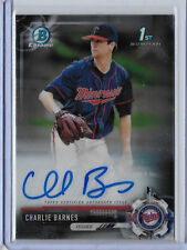 2017 Bowman Chrome Draft Charlie Barnes RC AUTO Twins