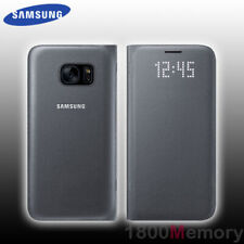 Genuine Samsung Galaxy S7 LED Cover Flip Case - Black