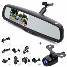 "4.3"" LCD Car Rear View Mirror Monitor + Backup Camera System Kit w/OEM Bracket"