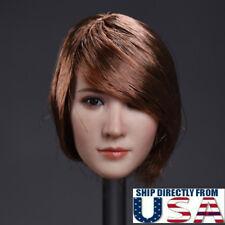 1/6 Asian Female Head Sculpt D Short Hair For PHICEN TBLeague HotToys Figure USA