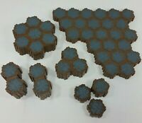 Heroscape Tile Rock Terrain Gray Stone Lot of 115 Hexes From Rise Of Valkyrie