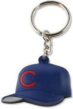 Chicago Cubs Baseball Team Hat Keychain Soft Rubber Keyring MLB