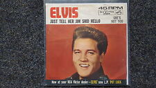 """Elvis Presley-Just tell her that I Said Hello/She 's not you US 7"""" single"""