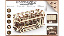 Wooden City® LONDON BUS, Wooden Mechanical Models, zur Selbstmontage!