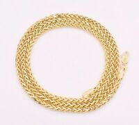 Semi-Solid Diamond Cut Round Franco Necklace Chain 14K Solid Yellow Gold 2.7mm