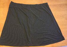 AVA&VIV Women's Plus Size 4X Charcoal Stripe A-line Skirt NWOT, Jersey, Stretch
