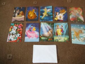 WOOLWORTHS ~ DISNEY CLASSICS 10 x CHRISTMAS CARDS & ENVELOPES  NEW