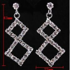Clear Diamonte / Diamante Diamond Shape Drop Earrings - NEW!!! Bridal