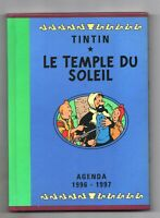 AGENDA TINTIN 1996-1997 - 15,5 x 21,5 cm. TINTIN TEMPLE DU SOLEIL - NEUF