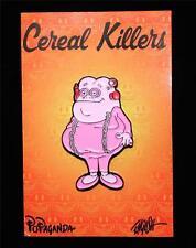 POPAGANDA: CEREAL KILLER FRANKEN FAT LAPEL PIN BY RON ENGLISH
