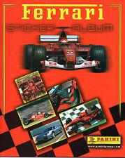 Panini 2003 Ferrari Official Collection Complete Loose Sticker Set + Empty Album