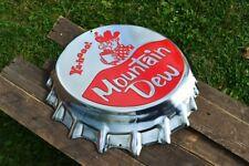 Mountain Dew Bottle Cap Embossed Tin Metal Sign - Hillbilly - Yahooo - Pepsi MTN