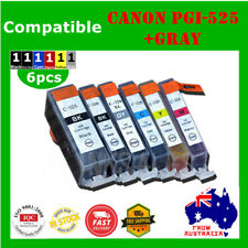 6X Ink Cartridge For Canon PGI525 CLI526+Gray MG6150/6250/8150 IP4850/4950