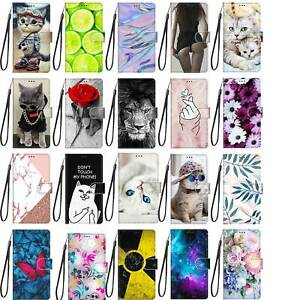Flip Case For Samsung Galaxy S21 S20 S10 S9 Ultra Plus FE Pattern Wallet Cover