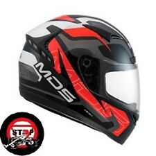 MDS M13, COMBAT, RED/BLACK/WHITE, FULL FACE HELMET, LARGE, .voyagermotorcycles.