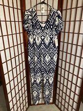 XS Lularoe NWT Xoe Jumpsuit -  Navy White Summer Print