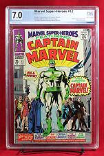MARVEL SUPER HEROES #12 PGX 7.0 FN/VF Fine/Very Fine 1st CAPTAIN MARVEL +CGC!!!