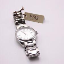 Movado ESQ Stainless Steel Wristwatch 331145573 Swiss Quartz Date