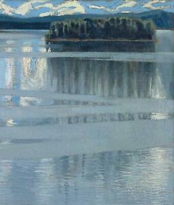 Portfolio, National Gallery Greeting Card Lake Keitele by Kallela