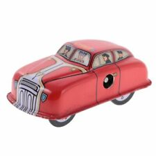 MS644 Vintage Mini Fire Car Vehicle Retro Clockwork Wind Up Tin Toy Collectible