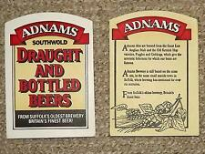 12 x Adnams beer mats - Sole Bay Brewery, Southwold, Suffolk