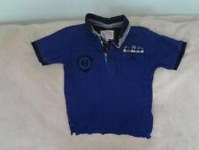 Boys 6-7 Years - Blue Short Sleeve Polo Top with Logo - J Jeans Debenhams