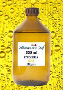 KOLLOIDALES GOLD – Hochvolt-Verfahren   500 ml - Goldwasser
