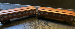 Lot of 2 Lionel Pullman Cars No.2442 - Passenger Cars, Brown