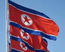 North Korea Flag 5 x 3 FT - 100% Polyester With Eyelets - People's Republic Of
