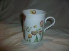 MARJOLEIN BASTIN Porcelain MUG  AVON 1997 Spring Tulips Flowers