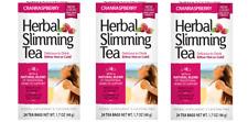21st Century Slimming Tea Cranraspberry 24 bags Pack of 3 (72 bags total)