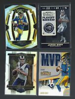 JARED GOFF (4) card PANINI  PRIZM,NUMBERED,PARALLEL  lot  Los Angeles Rams