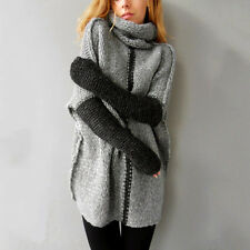 Fashion Women Winter Pullovers Turtleneck Sweater Knitted Outwear Sweatercoat AU Regular M Pink