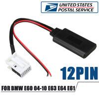 12Pin Bluetooth Audio Adapter Aux Cable For BMW E60 04-10 E63 E64 E61(USA Stock)