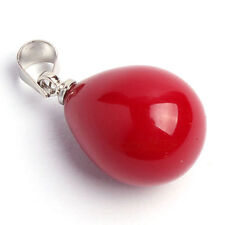 Multi-Color Black White Pink Purple South Sea Shell Pearl Drop Pendant +Necklace