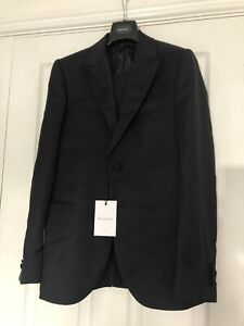 Paul Smith Gents Tailored Fit Evening Suit Black Wool Lined 38Reg - RRP£1160