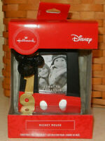 Hallmark 2019 Disney Mickey Mouse Photo Holder Frame Christmas Ornament Red Box