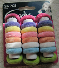 24 Goody Girls Gentle Ponytailers Ouchless Soft Elastic Fabric Hair Bands Tinsel