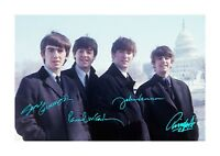The Beatles (2) A4 signed photograph poster. Choice of frame.