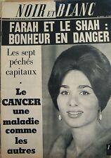 IRAN FARAH en COUVERTURE de NOIR et BLANC No 1045 DE 1965 CORSE INDÉPENDANCE