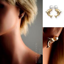 Boucles d'oreilles Dauphin Plaqué OR et Perle - 2494781 - BigBang-Bijoux.com