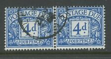 GB POSTAGE DUE VARIETY 1959 4d S + T JOINED...FINE USED PAIR