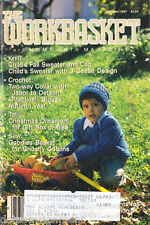 The Workbasket Magazine Oct 1987 Multi Crafts Knit Crochet Tat Sew Craft Garden