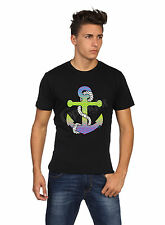 Neon Anchor T-Shirt, Classic,Black,Cotton Blends ( Adult's Size: S, M, L, XL)