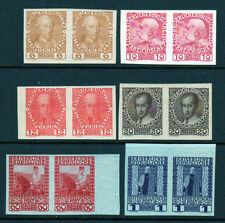 1908-1916 Austria SC 114a 115 116a 117a 122 124 Imperf Pairs Set of 6, MLH*